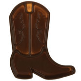 Brown Cowboy Boot Tray