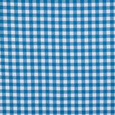 Blue & White Americana Check Twill Fabric