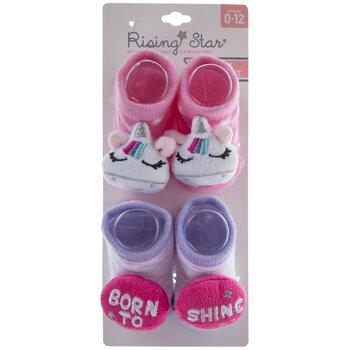 Born To Shine Unicorn Socks