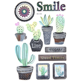 Translucent Cactus Stickers