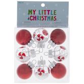 Peppermint Mini Ball Ornaments