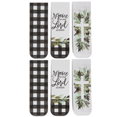 Buffalo Check, Cross & Scripture Magnetic Bookmarks