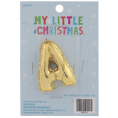 Gold Balloon Letter Ornament - A