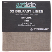 "Natural 32-Count Belfast Linen Cross Stitch Fabric - 18"" x 27"""
