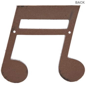 Double Music Note Metal Wall Decor - Large