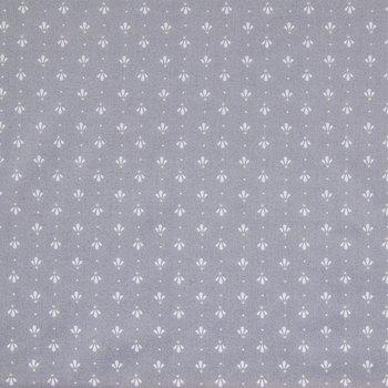Gray Palmette Cotton Calico Fabric