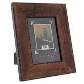 """Wide Wood Veneer With Black Edge Frame - 5"""" x 7"""""""
