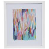 Bright Brushstrokes Framed Wall Decor