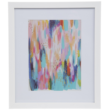 Bright Brushstrokes Framed Wall Decor
