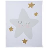Sleeping Star Canvas Wall Decor