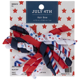 Red, White & Blue Curly Ribbon Hair Bow