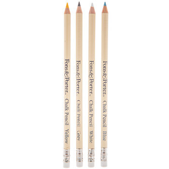Assorted Chalk Pencils - 4 Piece Set