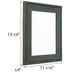 Turquoise Wash Wood Open Frame - 8