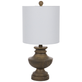 Wood Look Finial Lamp