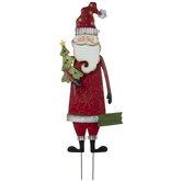 Santa Claus Metal Garden Stake