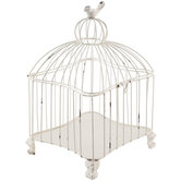 White Metal Bird Cage