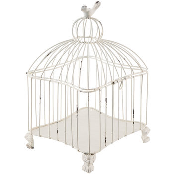 White Metal Bird Cage