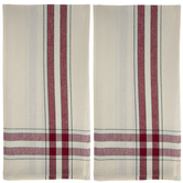 Red Vintage Striped Towels