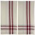 Red Vintage Striped Towels