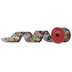 Pine & Glitter Ornaments Wired Edge Ribbon - 2 1/2
