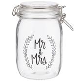 Mr. & Mrs. Glass Mason Jar