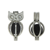 Owl Lava Bead Lockets