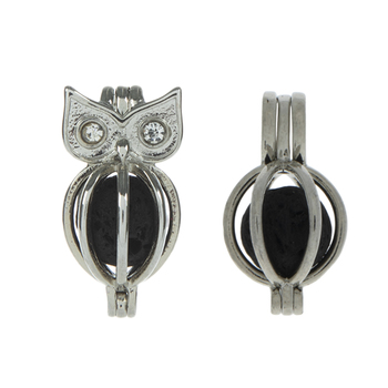 Owl Lava Bead Lockets
