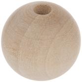 """Round Wood Beads - 1"""""""