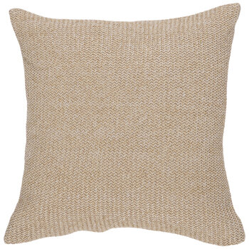 Gold & Natural Knit Pillow Cover