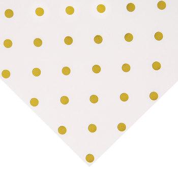 "Foil Polka Dot Scrapbook Paper - 12"" x 12"""