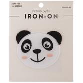Panda Puffy Iron-On Applique