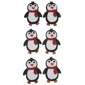 Penguins Glitter 3D Stickers