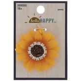 Sunflower Rhinestone Pendant