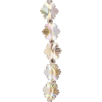 Clear AB Snowflake Glass Bead Strand