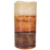 Ginger Spiced Muffin LED Layered Pillar Candle