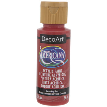 Country Red Americana Acrylic Paint