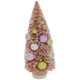 Pink Flocked Sisal Tree With Ornaments