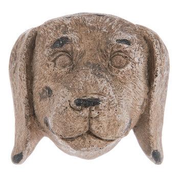 Brown Distressed Dog Head Knob