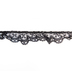 Black Ruffled Lace Trim - 7/8