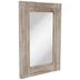 Whitewash Rectangle Wood Wall Mirror