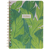 Pink & Green Leaves Journal