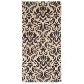 Black & Kraft Damask Tissue Paper