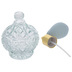 Blue Glass Perfume Bottle With Atomizer