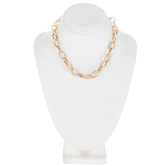 Large Oval Chain Necklace - 16""