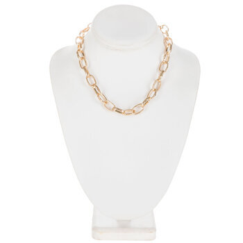 """Large Oval Chain Necklace - 16"""""""