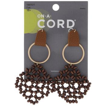 Woven Wood Bead Pendants