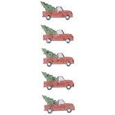 Christmas Tree Truck Rhinestone Stickers
