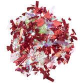 Red & Iridescent Crumb Confetti