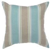 Blue, Brown & Green Striped Pillow