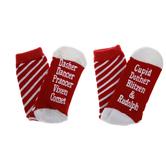 Reindeer Names Crew Socks